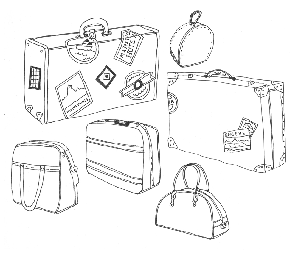 a collection a day  2010 november 2010 Travel Suitcase Clip Art Stacked Suitcases