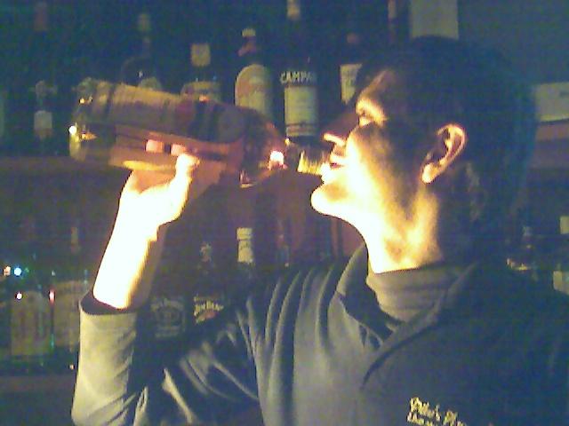 [Gilli+drinking]