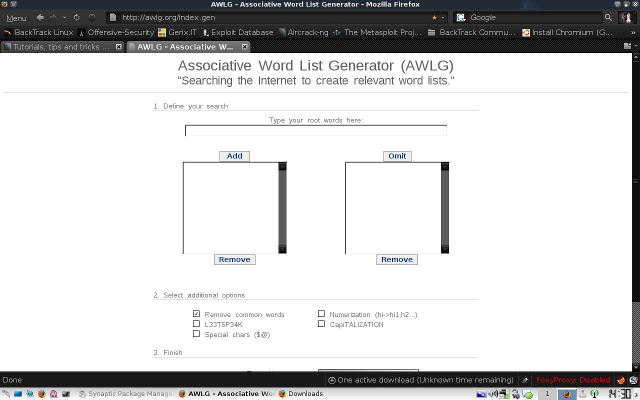 The Associative Word List Generator (AWLG) - Online Wordlist