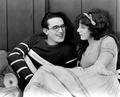 Harold Lloyd and Jobyna Ralston in The Freshman.