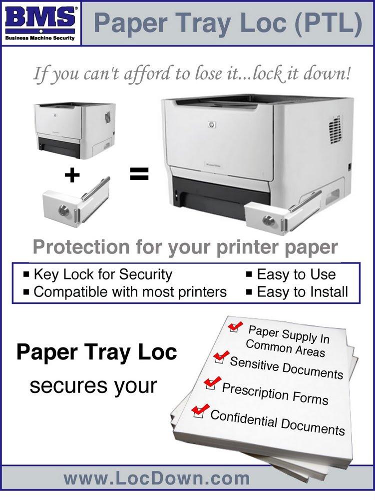 paper tray lock