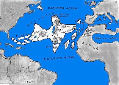 Peta Atlantis
