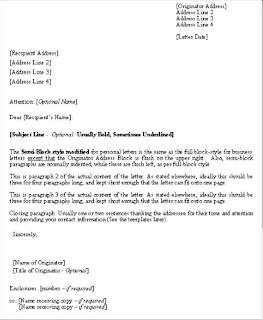 FORM 1 POSITION FORMAL LETTER FORMAT AND EXAMPLE