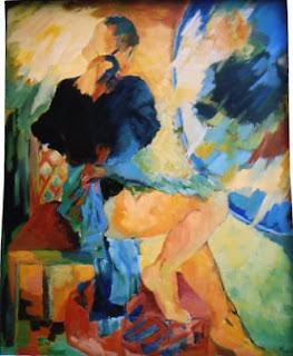 Ilana artiste peintre la fille au miroir huile sur toile for Fille au miroir