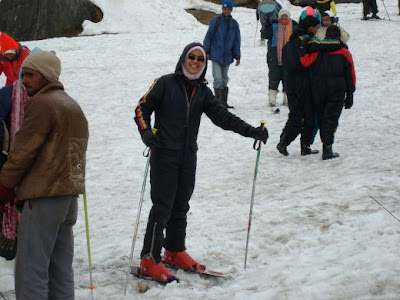 Girl Skiing During Winters @ Auli