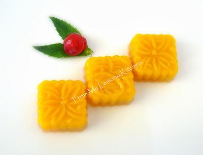 Mango Coconut Milk Jelly