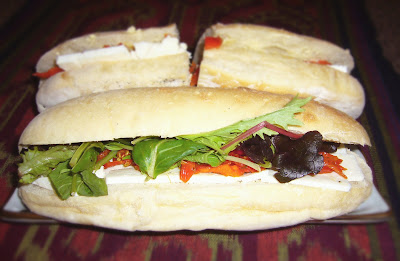 Feta tomato sandwich