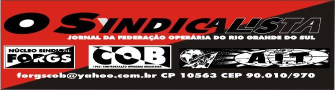 O Syndicalista- O jornal da Federação Operária do Rio Grande do Sul
