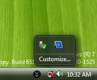 Windows 7 system tray