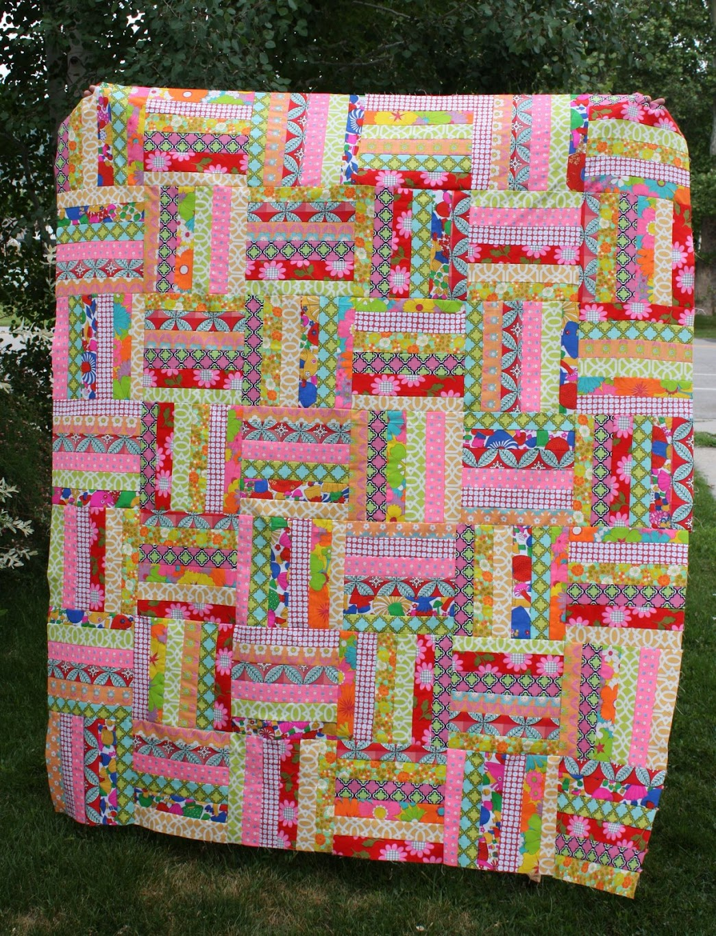 Candy dish quilt top!
