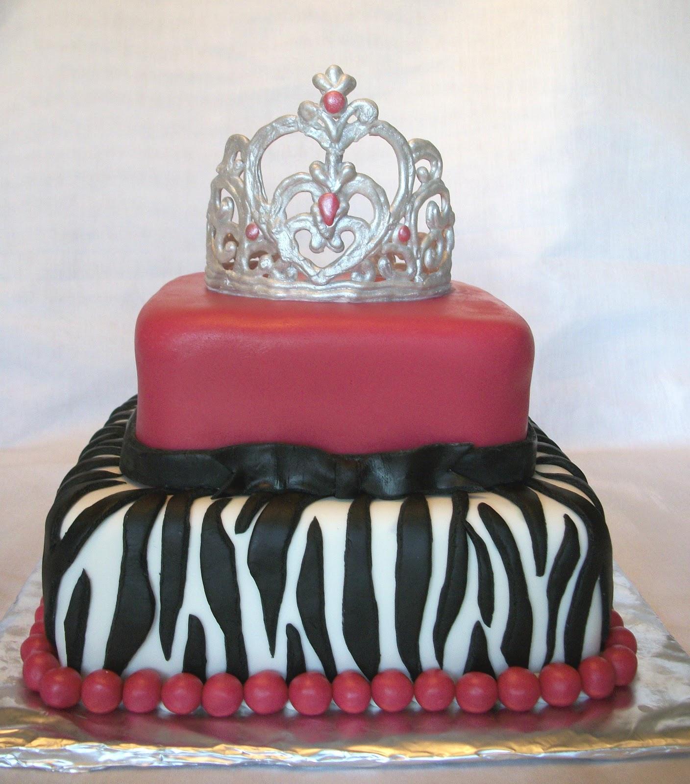 Specialty Cakes Hot Pink Zebra Print Cake