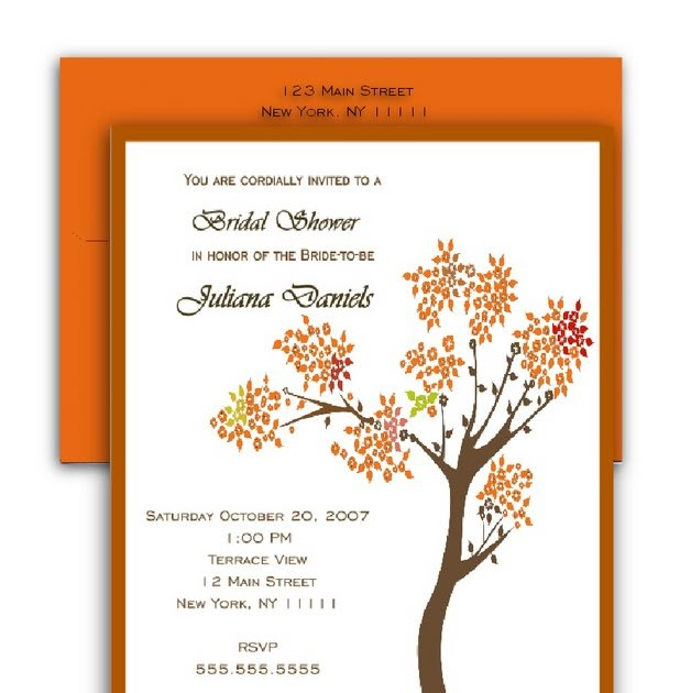 Wedding Invitations For Fall with awesome invitation sample
