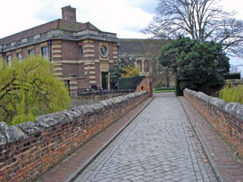 Eltham Palace - entrance over Tudor bridge