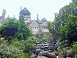 Cragside, from below