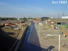 Olympic Stadium site, October 2007