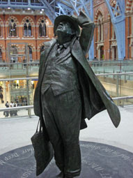 Sir John Betjeman looks up