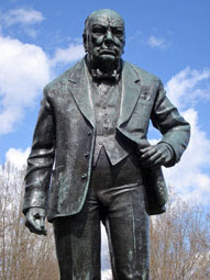 Winston Churchill statue, Woodford Green
