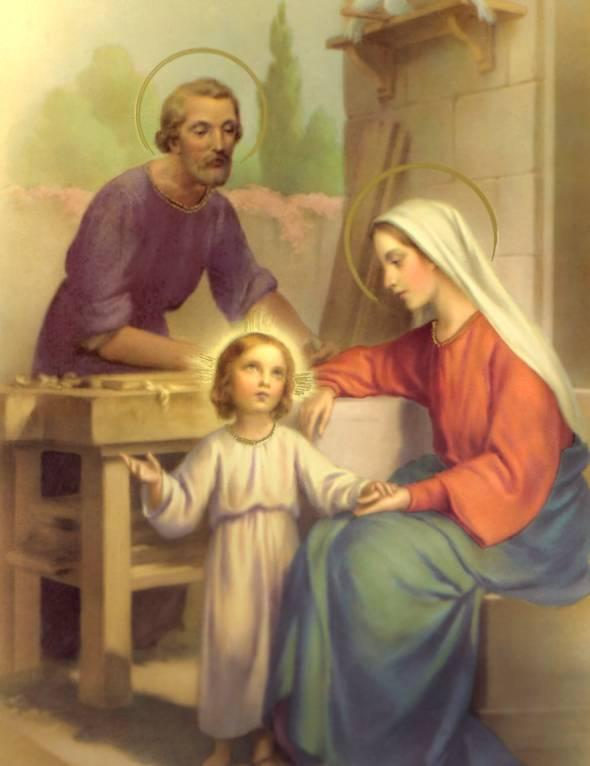 apenas oração: SAGRADA FAMÍLIA DE JESUS, MARIA E JOSÉ