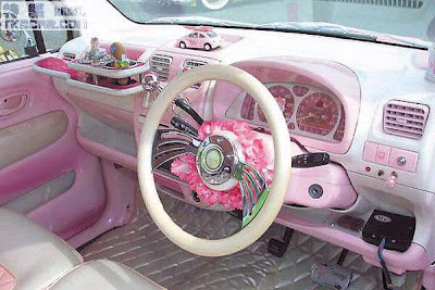 eric 39 s believe it or not hello kitty car decorations. Black Bedroom Furniture Sets. Home Design Ideas