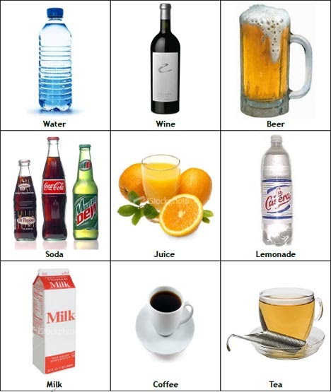 My English Pages Online: DRINKS