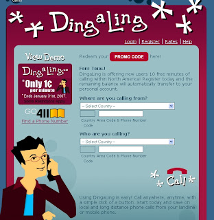 VOIP SOLUTONS: Ding-a-ling offers low cost VOIP - A Jajah clone