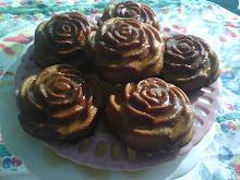 Caramel Rum Rose Poundcakes
