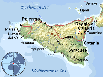 sicilija mapa Per@ Travel: SICILIJA sicilija mapa