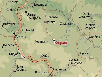 mapa srbije krupanj Per@ Travel: KRUPANJ mapa srbije krupanj
