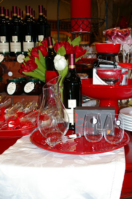 Valentines Day winery display