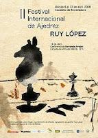 Cartel del II Festival Internacional de Ajedrez Ruy López