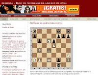 Impresión de pantalla del blog sobre ajedrez Genios64.com