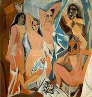 Arte cuadro Las señoritas de Aviñón de Pablo Picasso