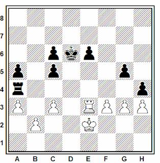 Posición de la partida de ajedrez Hamdouchi (2583) - Pogorelov (2462) (III Calvia International Open, 2006)