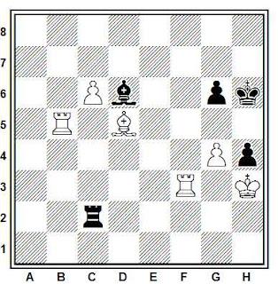 Posición de la partida de ajedrez Shankovitch - Visier (Palma de Mallorca, 1967)
