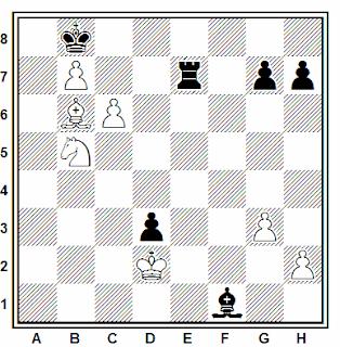 Posición de la partida de ajedrez Ramma - Krims (Riga, 1984)