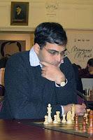 Vishy Anand líder de la clasificación Elo de ajedrez