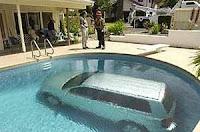 Multa por aparcar en la piscina