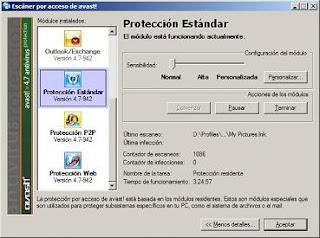 Software antivirus Avast sugerido por aplicaciones