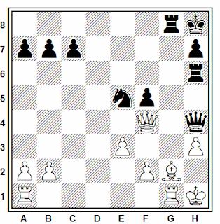 Posición de la partida de ajedrez Farago - Duckstein (Viena, 1982)