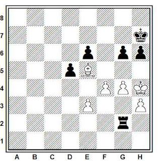 Posición de la partida de ajedrez Zigel - Hansen (Groninga, 1982)