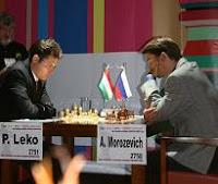 Leko y Morozevich en la ronda 13 del Campeonato Mundial de Ajedrez 2007