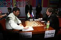 Anand vence a Grischuk en la ronda 7 del Campeonato Mundial de Ajedrez 2007