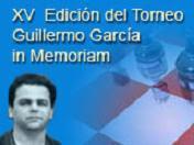 Cartel del XV Torneo Internacional de Ajedrez Guillermo García in memoriam