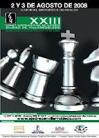 Cartel del XXIII Torneo Internacional de Ajedrez de Villarrobledo