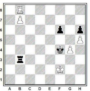 Posición de la partida de ajedrez Salov - Orvath (Groninga, 1984)