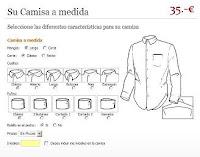 Personalizador de camisas de Tailor4Less en ropa y moda