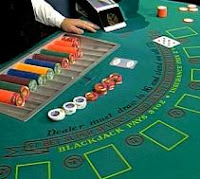 Mesa de blackjack en un casino