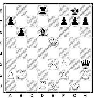 Posición de la partida de ajedrez Shanadi - Pogac (Hungría, 1963)
