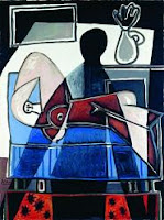 Óleo sobre lienzo de Pablo Picasso La sombra sobre la mujer (1953)