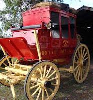 Ajedrez por correspondencia, los carruajes llevaban las jugadas